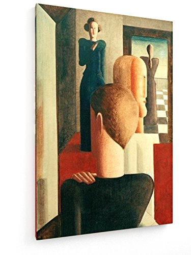 Fünf Figuren in Einem Raum - Oskar Schlemmer - Gemälde, 1925-20x30 cm - Leinwandbild auf...