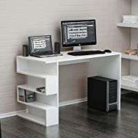 Bravo Limber Studying Desk, White - 75 cm x 120 cm x 60 cm