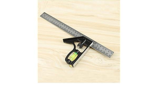 Alftek 300/x 105/mm /Équerre combin/ée r/églable Angle droit R/ègle avec niveau /à bulle outils de mesure