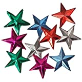 Decorative Buckets:christmas Decorations : CHRISTMAS STAR |CHRISTMASTREE DECORATIONS HANGING STAR |MULTICOLOR STAR : PACK OF 10 |christmas Tree Decorations |christmas Tree Hanging| Christmas Décor | Christmas Tree Ornaments
