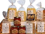 Dispensa dei Grandi Sapori Bell'Olio di Puglia. Prodotti tipici italiani. Pasta artigianale di semola di g
