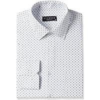 Diverse Men's Printed Regular Fit Cotton Formal Shirt (DVF01F2L01-234-46_White/Blue_46)