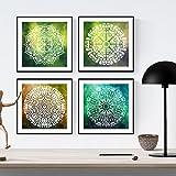 PACK von Blättern zum Rahmen Gleichgewicht. Quadratische Poster mit Bildern von Mandalas. Inneneinrichtung. Rahmen zum Rahmen. Papier 250 Gramm hohe Qualität