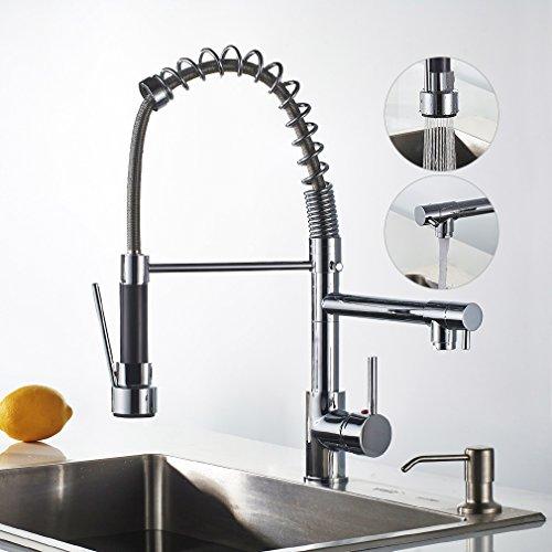 Auralum® 360° drehbar Feder Wasserhahn Spültischarmatur Einhandmischer Spültisch Küche