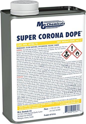 MG Chemicals 4226-1L Super Corona Dope, Hohe Spannung Anwendungen, 4100V/Mil Spannungsfestigkeit, 950ml, 1Quart Flasche, transparent -