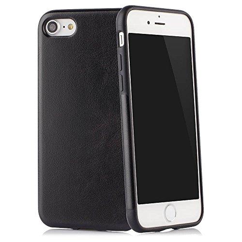 """Case für iPhone 7 (4,7\"""") Thin Fit Hülle Kunstleder Tasche für Apple iPhone 7, Schutzhülle Bumper mit Soft Feel Coating in schwarz - iPhone7 Cover von QUADOCTA"""