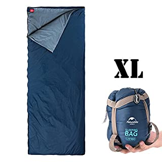 Outdoor Sleeping Bag, ieGeek Ultra-light Envelope Rectangular Large Sleeping Bags Compression Sack 3 Season for Camping Travelling Hiking Backpacking XL Size Fit for Kids/Teens/Adults