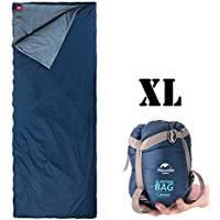 ieGeek Outdoor Sleeping Bag, Ultra-light Envelope Rectangular Sleeping Bags Multifuction Sleep Sack 3 Season for Camping Travelling Hiking Backpacking XL Size Fit for Kids, Teens and Adults
