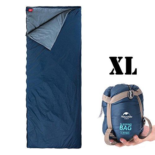 Camping Schlafsack,ieGeek Naturehike Leicht Hüttenschlafsack Hiker/Backpacker Outdoor Schlafsack-Extra-Breit Klein Wasserdicht Leicht zu Tragen (Size:205 X 85cm)