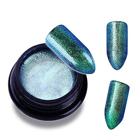 NICOLE DIARY 1 Flasche UV Gel Nagellack Soak Off UV Gel Chameleon Serie Sparkly Color Coat UV & LED Nail Art Maniküre # 4
