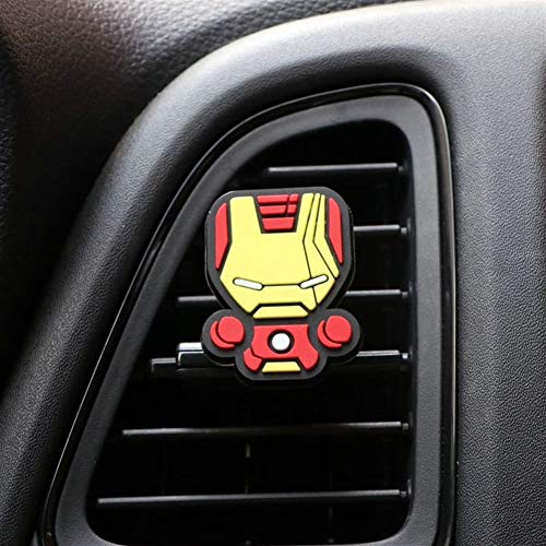 Car Deodorante fumetto Deodorante Car Styling Profumo The Avengers stile Marvel for l'aria condizionata Vent uscita Superman Batman freddo di modo (Color Name : Ironman)