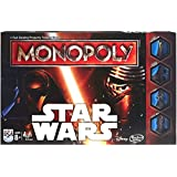Hasbro Monopoly Game Star Wars - Juego de tablero (Multi, 4 character tokens (2 Rebel, 2 Empire), 48 bases (all double-sided), 36 Force cards, 4 symbol cards,)