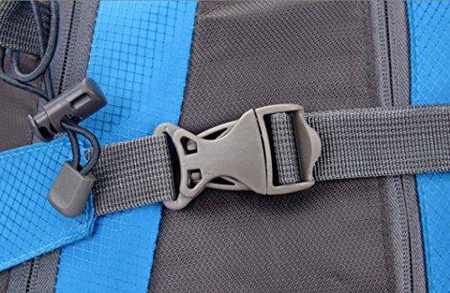 LQABW Outdoor-Nylon Wasserdichtes Haltbares Wandern Berg Beiläufige Reduzierte Breath Rucksack Tasche Black
