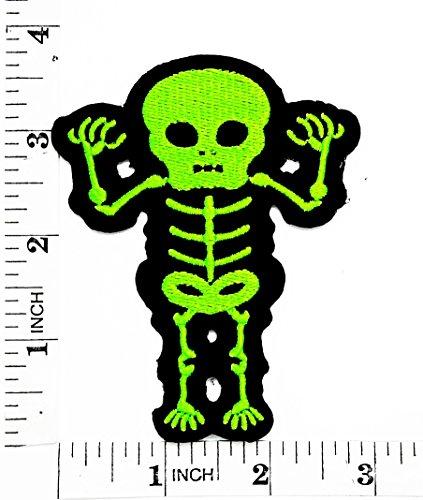 Skelett Knochen Baby Totenkopf Tag sterben der Todesstrafe, Love never, Rider Biker Motorrad Patch Hand bestickt und Bügelbild Symbol Jacke T-Shirt patches aufnäher (Kostüm Diy Tod)
