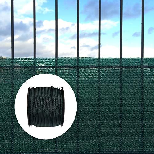 KLASEBO Filet Coupe-Vent et Brise-Vue avec matériel de Fixation 2 m x 25 m