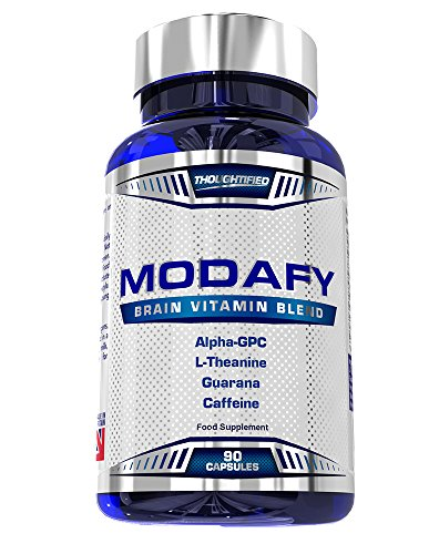 Modafy – NEW Premium Nootropic Brain Stack For Clarity, Energy, Concentration & Focus   BEST Formula and Largest Doses of Nootropics powered by Alpha GPC, L-Theanine, Phosphatidylserine, Guarana, Lion's Mane & COQ10   90 Capsules