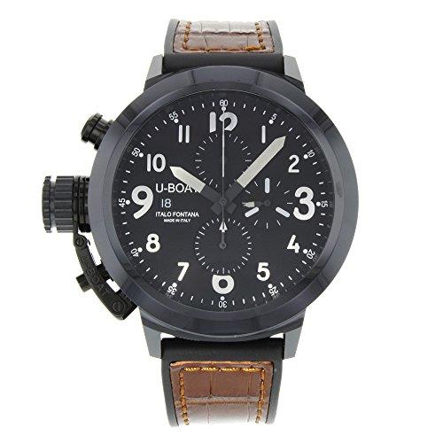 7388u-boat Flightdeck 50nero ceramica cronografo automatico orologio da uomo