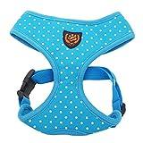 My Pet Soft Cotton Hund Vest Harness Haustier Hund Hübsch Dot Weste Täglichen Kleidung Apparel Blau XL