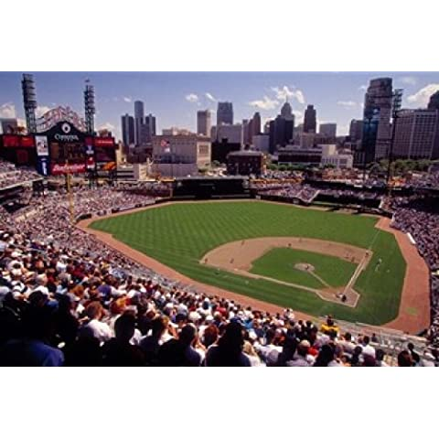 Panoramic Images – Home of the Detroit Tigers Baseball Team, Comerica Park, Detroit, Michigan, USA Artistica di Stampa (68,58 x 45,72 cm)