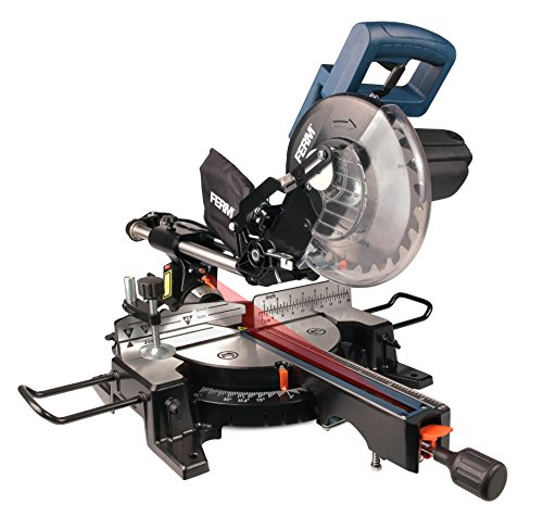FERM Troncatrice Radiale 1900W - 210 mm - laser - con TCT T24 lama e sacco polvere   ARTIGIANO