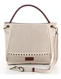 bc08d1fdba Fuchsia - Grand sac porté épaule ethnique avec clous femme simili cuir  (f9820-6