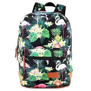 Target 21960 - Mochila con diseño Floral, Color Negro