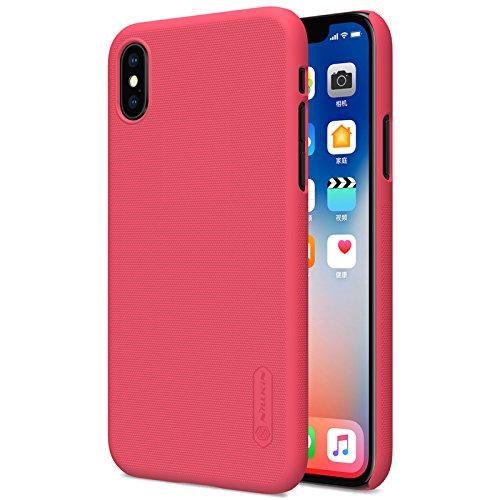 AVIDET iPhone X Hülle - Bumper und Anti-Scratch Hard Cover Case Tasche für iPhone X (Rot) Rot