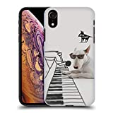 Head Case Designs Offizielle Jimmy The Bull Piano Doodles Ruckseite Hülle für iPhone XR