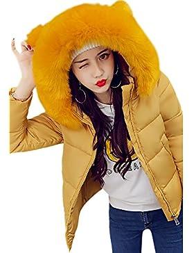 Sonnena nuevo para mujer señoras acolchado abrigo de invierno acolchado cuello de piel con capucha chaqueta Parka...