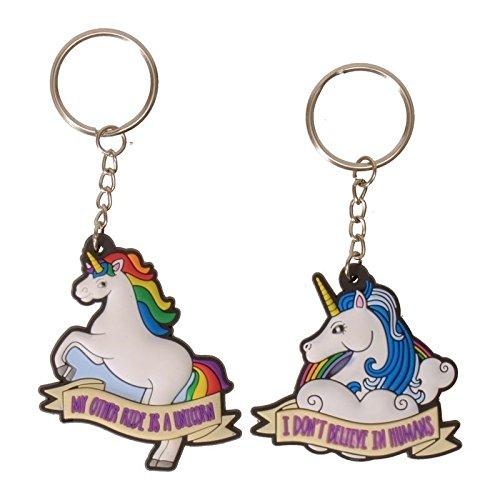 Preisvergleich Produktbild Einhorn Schlüsselanhänger - Einhorn Spruch Schlüssel Ring Unicorn Schlüsselring Magie