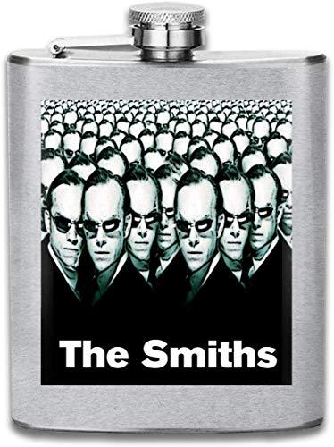 The Smiths Agent Smith Flachmann mit Matrix-Druck, tragbar, Edelstahl, ca. 200 ml -