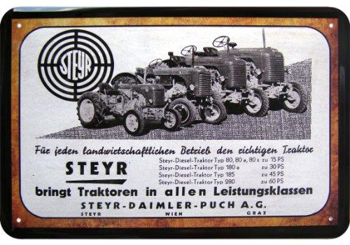 """""""Steyr"""" Traktoren Reklame Blechschild Replik gebraucht kaufen  Wird an jeden Ort in Deutschland"""