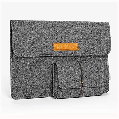 JSVER 15,4 Zoll MacBook Pro Retina Filz Sleeve Hülle Laptop Ultrabook Notebook Tasche speziell für 15,4 Zoll MacBook Pro, Klettverschluss,Dunkelgrau