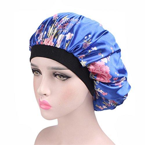 ZYCC Capo de satén de banda ancha Capo de sueño, Sombrero de dormir Sombrero de cáncer Sombrero de Chemo Mujeres aptas para dormir/Cáncer/Quimioterapia/Pérdida de cabello