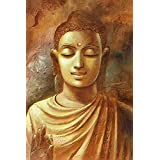 ART DIOR | Gautam Buddha Zen God | Siddharth | Buddhism Meditation | Canvas Wall Art | Framed Canvas Wall Art Print | Frame Size Of Width 24 Inch X Height 18 Inch X Thickness 1 Inch On 5 Mm Medium-Density Fiberboard (MDF) | Alternate Size Also Available |