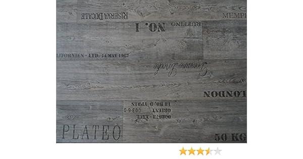 PVC mit Schriftz/ügen L/änge: 800 cm, Breite: 400cm grau von Alpha-Tex 9.95/€//m/²