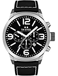 TW Steel Marc Coblen Edition Chrono mit Lederband 45 MM Black/Black TWMC33
