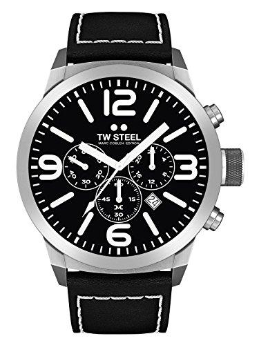 TW Steel Herren Uhr Armbanduhr Chrono Marc Coblen Edition TWMC33 Lederband