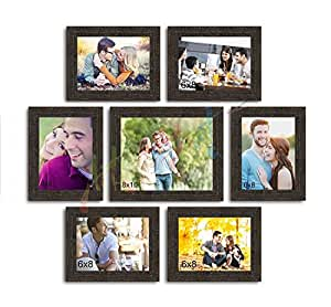 Art Street Love Forever Set of 7 Individual Photo Frame/Wall Hanging for Home Décor - Copper