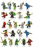 1Set mit Kuchendeko für Partys Design: Ninjago, bleiben stehen, essbar, 23Stück