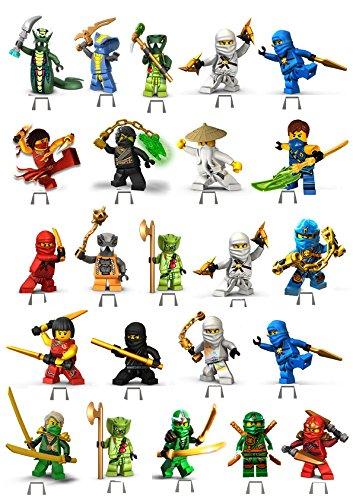 Ninjago 1Set Kuchen Party steht auf, essbares Wafer Karte X23Stücke CC