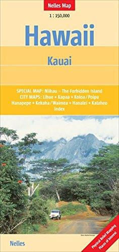 Hawaii: Kauai 1:150 000 Nelles Map