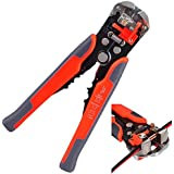 CymuRos Wire Stripper Plier,Self-Adjusting Automatic Wire Stripper Professional Multifunctional Wire and Cable Crimping Stripping Cutting Pliers Terminal Tool Wire Crimper Stripper Cutter AWG24-10(0.2~6.0mm²)