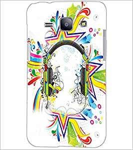 PrintDhaba Abstract Design D-2991 Back Case Cover for SAMSUNG GALAXY J1 (Multi-Coloured)