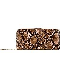 Cartera de tarjeta de crédito de monedero de serpiente Tarjeta fotográfica de bolsillo de moda de