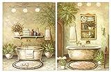 Dcine Cuadro de baño, Placa de Madera de Decoracion bañeras