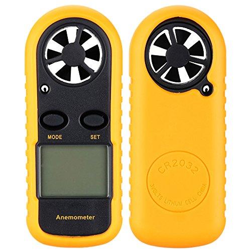 KKmoon Handwindmesser Digitaler Windmesser mit Anemometer Thermometer - 4