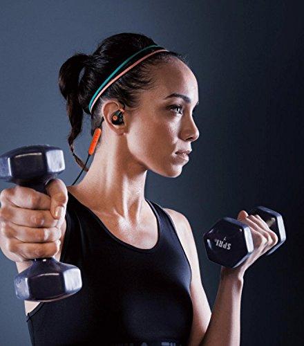 Siri und Google Now Motorola VerveLoop 2+ Bluetooth Headphones In Ear Sport-Kopfh/örer IP57 mit integriertem Ohrb/ügel Kompatibel mit Alexa Gro/ße Reichweite und HD-Sound