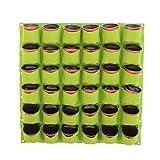 Pflanzen Taschen Wandbehang Garten Pflanzer 36 Taschen wachsen Taschen Pflanze Tasche hängende Blume Taschen für Yards-Wohnungen-Balkone-Patios-Schulhöfe und Gemeinschaft und Rooftop Gardens Green