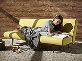 Schlafsofa Unfurl Sofa Couch Bett Schlafcouch Bettfunktion Klappsofa Schlaffunktion Bettsofa Funktionssofa Sofabett Gästebett Jugendbett 3-Sitzer - Innovation Design - Textilbezug, Bezug:217 Textil Light Grey Flashte
